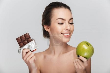 chocolate and apple