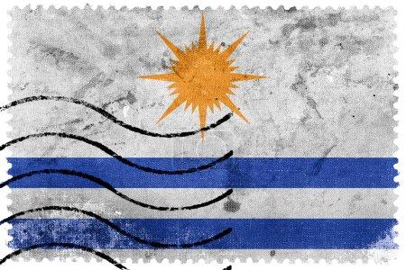 Photo pour Drapeau de Palmas, Tocantins, Brésil, timbre-poste ancien - image libre de droit
