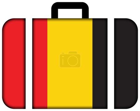 Flag of Besancon, France. Suitcase icon