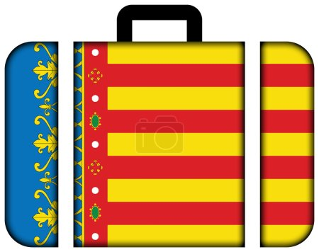 Flag of Valencian Community, Spain. Suitcase icon