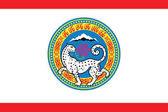 Flag of Almaty Kazakhstan Vector Format