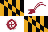 Flag of Baltimore County Maryland USA Vector Format