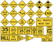 Road signs in the United States Low Clearances Advisory Speeds