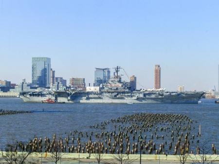 New York City - November 5, 2006: USS Intrepid (CV...