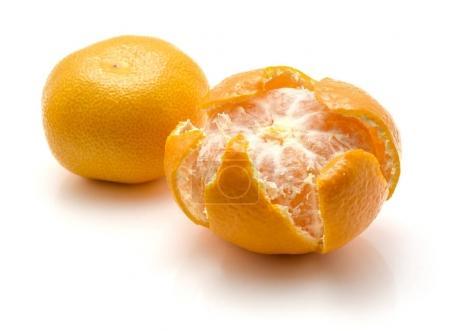 Fresh tangerine isolated