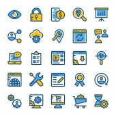 SEO and Marketing Colored Icons 4
