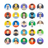 Professions Flat Colored Icons 2