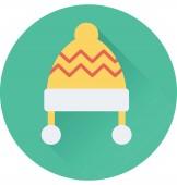 Bobble Hat Flat Vector Icon