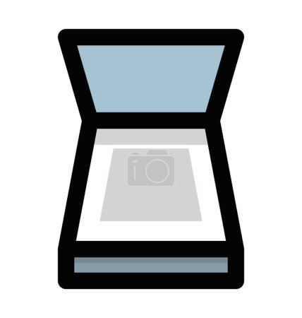 Flat icon design of image scanner