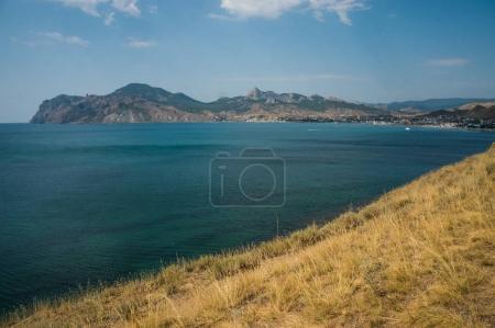 Mountains, sea and blue sky
