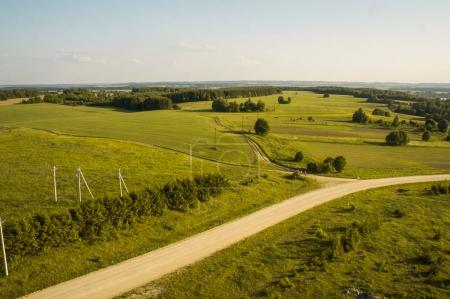 road in green field