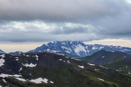 mountains and clouds scene