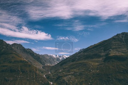 beautiful scenic mountain landscape in Indian Himalayas, Rohtang Pass