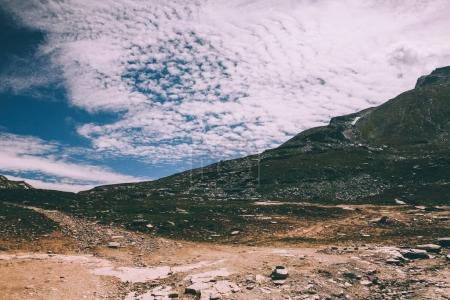 Photo for Beautiful scenic landscape with rocks in indian himalayas - Royalty Free Image