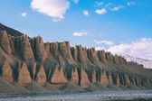 majestic scenic natural formations and mountain river in Indian Himalayas, Ladakh region