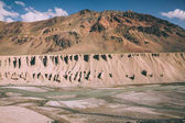 majestic natural formations and mountain river in Indian Himalayas, Ladakh region