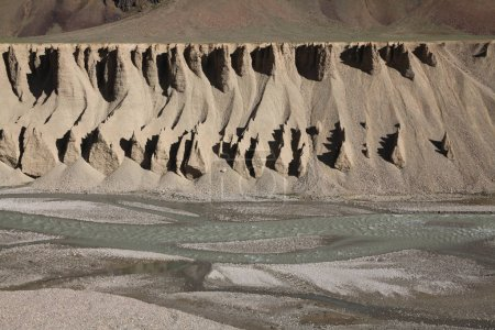 Photo for Majestic natural formations in Indian Himalayas, Ladakh region - Royalty Free Image