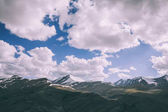 beautiful cloudy sky above majestic mountains in Indian Himalayas, Ladakh region