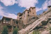 traditional buildings in Leh, Indian Himalayas