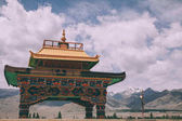 Friendship Gate in Leh and beautiful mountains, Indian Himalayas