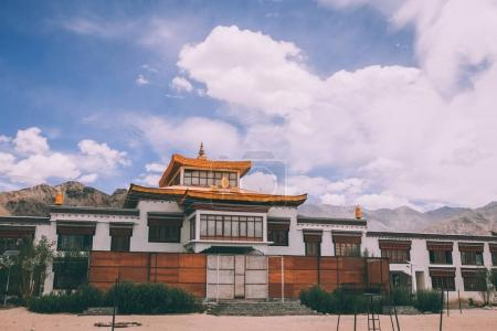 Photo for Traditional authentic building in Indian Himalayas, Leh - Royalty Free Image