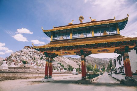Friendship Gate and cityscape in Leh, Indian Himalayas