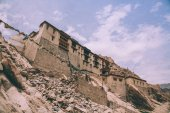 low angle view of traditional architecture in Indian Himalayas, Leh