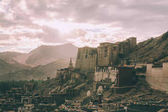 Leh town cityscape in Indian Himalayas