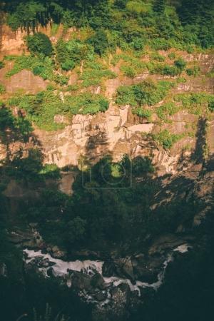 Photo pour Superbe paysage de montagnes dans l'Himalaya indien, col de Rohtang - image libre de droit