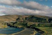 """Постер, картина, фотообои """"Красивые живописные пейзажи с величественная река в Исландии"""""""