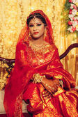 portrait of beautiful indian woman in traditional clothes looking at camera