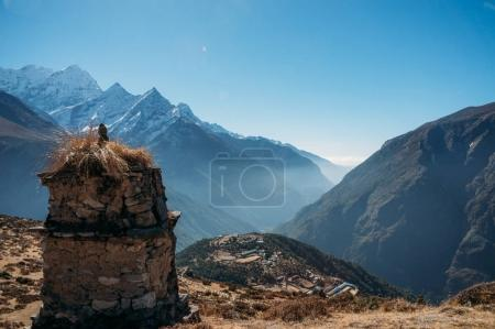 Breathtaking view of Nepal mountains peaks, Sagarmatha, 2014