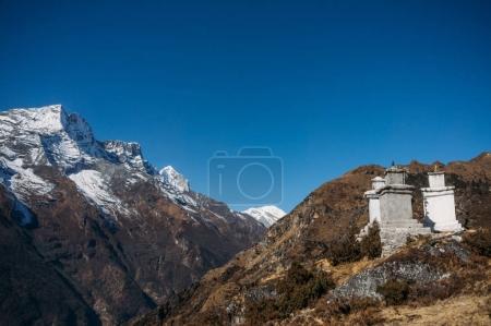 view on constructions in Lower Pangboche village, Nepal, Khumbu, November 2014