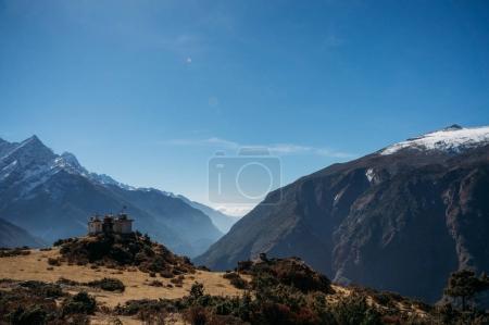 building on mountain, Nepal, Sagarmatha, November 2014