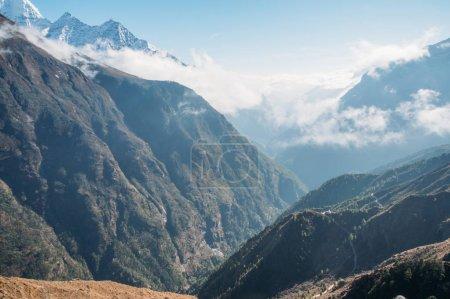 amazing mountains landscape, Nepal, Sagarmatha, November 2014