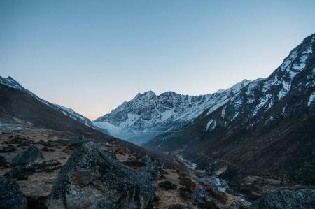 amazing snowy mountains landscape, Nepal, Sagarmatha, November 2014