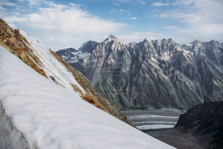 Photo for Beautiful snowy mountains, Russian Federation, Caucasus, July 2012 - Royalty Free Image