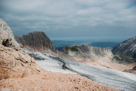 Photo for Scenic view of rocky cliff and cloudy sky, Caucasus, Russia - Royalty Free Image