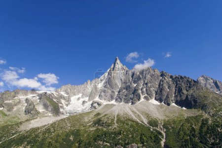 Photo for Scenic view of rocky mountains and clear blue sky, Alps, France - Royalty Free Image