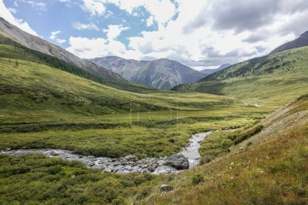 Photo for Mountain landscape with scenic valley, Altai, Russia - Royalty Free Image