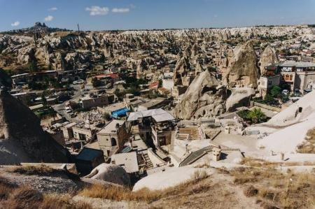 Photo for Aerial view of city, Cappadocia, Turkey - Royalty Free Image