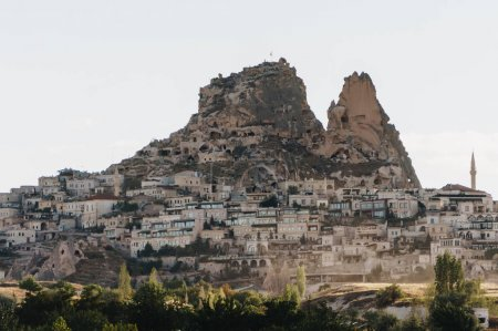 Photo for Mountain landscape with city, Cappadocia, Turkey - Royalty Free Image
