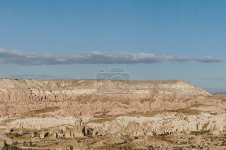 mountain landscape in Goreme national park, Cappadocia, Turkey