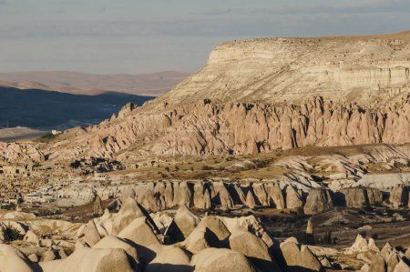 mountain landscape in Goreme national park, Cappadocia, Turkey