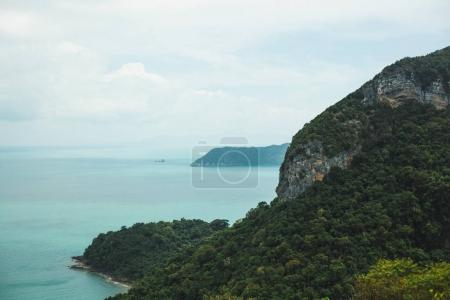 Photo for Island covered with trees in ocean at Ang Thong National Park, Ko Samui, Thailand - Royalty Free Image