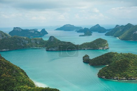 Photo for Aerial view of seascape with islands at Ang Thong National Park, Ko Samui, Thailand - Royalty Free Image