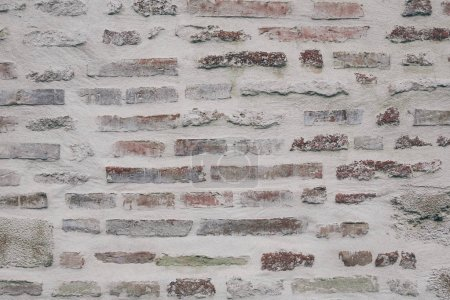 close-up shot of ancient brick wall for background