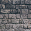 Close-up shot of black aged brick wall for backgro...