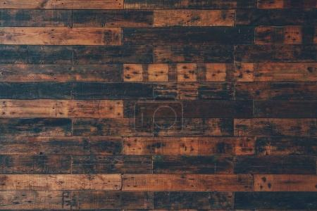 Photo for Top view of dark aged wooden floor for background - Royalty Free Image