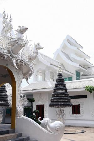 Photo for Beautiful white thai hindu temple on sunny day - Royalty Free Image